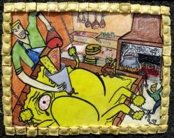 Sa fabuleuse progéniture vit encore dans l'intimité des familles, tapie dans la lumière discrète du feu, paisible chaleur des cuisines. Les anciens élèvent les générations nouvelles dans l'amour de la pâte fourrée et leur transmettent l'art délicat de sa réussite.